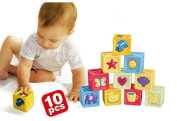 ZHJZ Colourful Educational Learning Toy Baby Building Block Toy