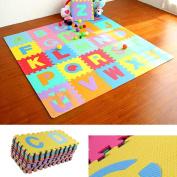 Rawdah 36pcs Large Alphabet Numbers EVA Floor Play Mat Baby Room Jigsaw ABC foam Puzzle