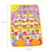 """Uarter Baby Play Mat - Music Carpet Mat Kids Sound Kids Learning Carpet with Fruits and Letters Interspersed, 28""""x19"""""""