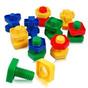 ZZM Nut Pairing Building Blocks Toys Educational Toys (Bags) Random Colour