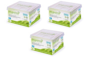 3x200 Masmi Certified Organic Cotton Buds, Biodegradable Paper FSC stick, Hypoallergenic, Non Chlorine Bleached