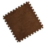 Warm Foam Puzzle Floor Mat, Kolylong Kids Carpet Eva Shaggy Velvet Baby Eco Floor 7colors 30*30cm