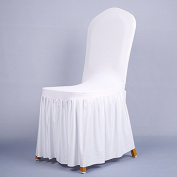 Removable Chair Cover Stretch Elastic Slipcovers - Modern Minimalist Chair Covers Home Style Banquet Dining Chair Seat Covers,Five colours available , white