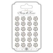 Craft Consortium Always & Forever Adhesive Pearls-14Mm Round Cluster W/Rhinestones