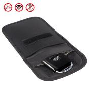 RFID Signal Blocking Case, Wisdompro® RF Signal Shielding Pouch Bag for Car Key FOB