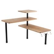 Totally Addict kb5843 modulable-3 Level Corner Shelf, Bamboo/Metal, Polypropylene, Brown, 43 x 43 x 38 cm