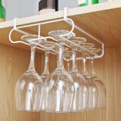 Caveen Wine Glasses Rack Holder Stainless Steel Champagne Wine Glasses Holder Wall-mounted Glass Rack Stemware Rack