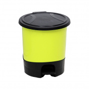 Step trash can,Waste bins with lids removable plastic waste bins for bathrooms bedroom office kitchens-5.5L-C