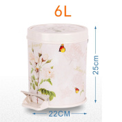 Step trash can,Waste bins with lids plastic waste bins trash can in home & Kitchen bathrooms office-H