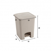 Pedal waste bin,Trash can with lid wastebasket rectangle plastic trash can in home & Kitchen bathrooms bedroom-D