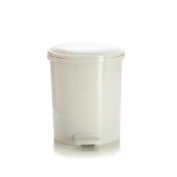 Step trash can,Waste bins with lids plastic sturdy waste bins for kitchens bathrooms office-A