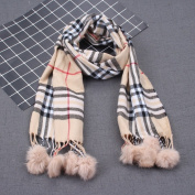 Autumn and Winter Children'S Scarves Baby Ball Grid Plaid Scarf