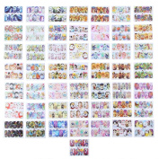 Domybest 50pcs Nail Stickers Beauty Mix Design Water Transfer Manicure Decal Decor