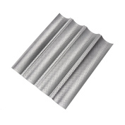 Perforated Baguette Pan, Non-Stick Perforated French Bread Pan Wave Loaf Bake Mould, Bread Baking Pans - 3 or 4 Gutters