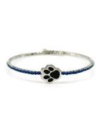 Dog Paw Wire Wrap Crystal Cuff Bracelet by Jewellery Nexus