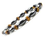 Men Women Fashion Jewellery Hematite Tiger Eyes Magnetic Therapy Stretch Bracelets