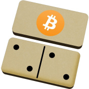 'Bitcoin Logo' Domino Set & Box