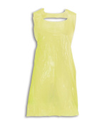 Alexandra STC-NU204YE-R Disposable Apron On A Roll, Plain, Polythene, One Size, Yellow