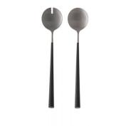ASA 32018950 Noor Salad Servers Stainless Steel/Plastic 28 x 3 x 3 cm, Silver/Black