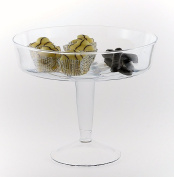 Traditional Glass Cupcake Stand Serving Bowl | Fruit Glass Dish 24.5 cm Berry