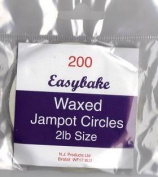 Wax circles 0.9kg for jam pots