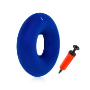 Inflatable Ring Cushion Vinyl Round Rubber Seat Cushion Medical Hemorrhoid Pillow Free Pump Comfortable Pillow Bed Sores Great for Wheelchairs