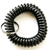 RuiChy Lot 10pcs Mixed Stretchable Spiral Wrist Coil Key Chains Black