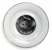 Gorilla 'You Sexy Beast' Gold Leaf Rim Plate n Gift Box