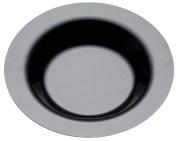"Thali Outlet - 20 x Plastic Deep BOWLS Black 9"" 23cm / Plates For Pasta Soup Birthday Weddings - Sabert Moziak"