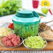 HGHMLIFE Hand-Powered Food Chopper,Vegetable Chopper, Mincer ,Whisk,Stirrer,Grinding