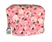 CozyCoverUp® Food Mixer Dust Cover for Bosch MUM5 in Pink Cupcakes