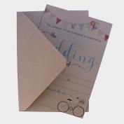 10 VINTAGE WEDDING INVITATIONS WITH ENVELOPES