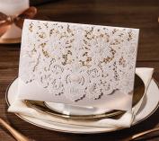 12pcs Horizontal Laser Cut Hollow Flora Wedding Invitation Card Party Birthday Template Invite