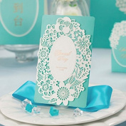 10 X Laser Cut Romantic Lace Tiffany Blue Wedding Invitation Cards, FREE matching envelop, FREE matching insert card and FREE seal