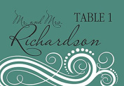 10 x Personalised Wedding Place cards