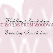 Woodware Clear Stamps 6.4cm x 4.4cm Wedding And Evening Invitations