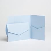 Baby Blue Matte Pocketfold Invites 130mmx185mm