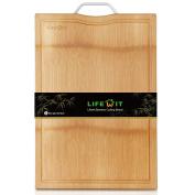 Lifewit Extra Large Bamboo Cutting Board Natural Organic Non-Slip Chopping Board, 46cm x 33cm x 2.3cm