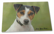 Jack Russell 'Love You Dad' Extra Large Toughened Glass Cutting, Chopping Board