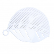 Gluckliy Plastic Leaf Shape Pasta Vegetable Fruit Rice Wash Strainer Clip on Draining Sieve Kitchen Gadgets Tool