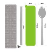 Espeedy Portable Dinnerware Set Stainless Steel Chopsticks Fork Shape Scoop Tableware Dinner Noodles Spoon Forks Kitchen Tools