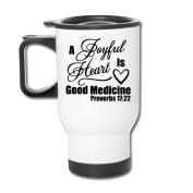 Mmmmmug Tumblers Travel Mugs A Joyful Heart Is Good Medicine Bible Mug