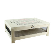 Totally Addict ka2362 Cheese Cellar with Serving Tray, Stainless Steel/Wood, Beige, 27 x 38.6 x 14.7 cm
