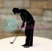 Golf cake topper decoration