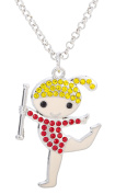 Lovely Rhythmic Gymnastics Girl Crystal Pendant Necklace for Girl Women Gifts Jewellery