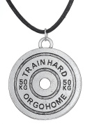 Engraved Inspirational Letters-Simple & Cool Weight-lifting Pendant Necklace For Bodybuilding Fans