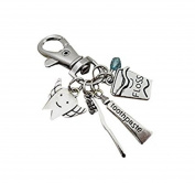 Dentist Dental Hygienist Assistant Tooth Fairy Charm Key Chain Keychain