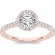 Imperial 1 Carat T.W. Diamond Single Halo 14kt Rose Gold Engagement Ring