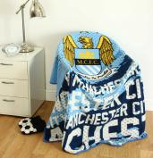 Manchester City Official Super Soft Fleece Blanket Throw