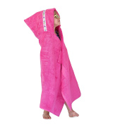 Hooded Owls large hooded towel for children, 1-8yrs, pink with Toucans trim